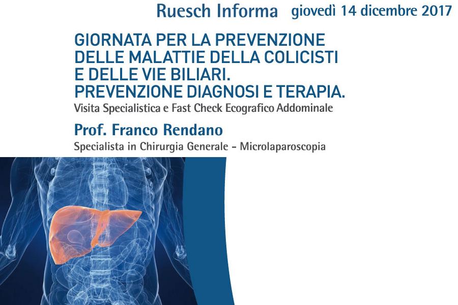 Giornata per la Prevenzione delle Malattie della colecisti e delle vie biliari.