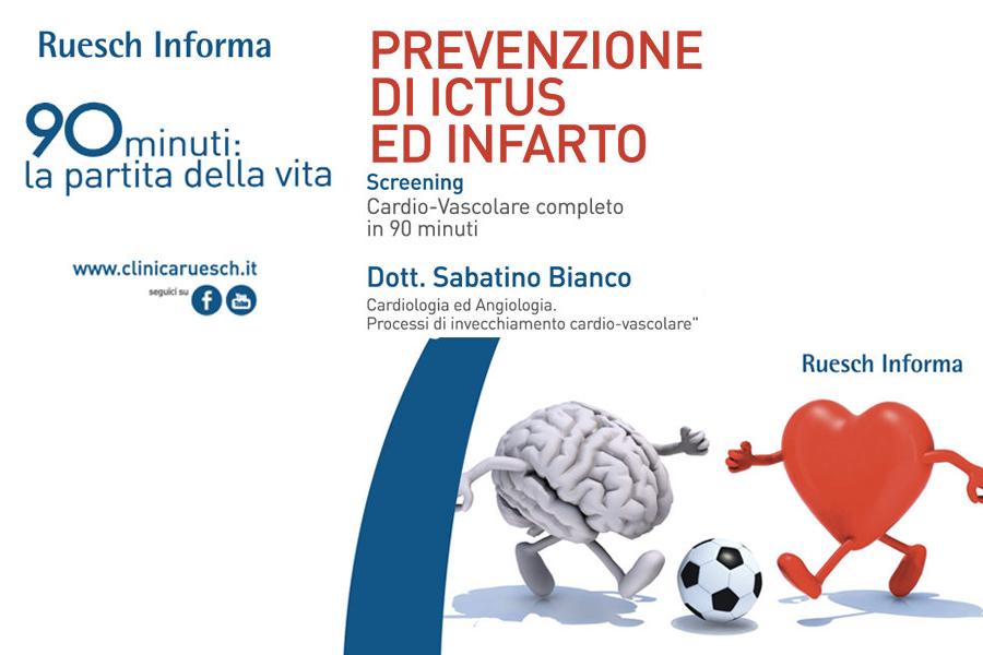 """Pacchetto Prevenzione: """"90 minuti per la vita"""" prevenzione cuore e cervello"""