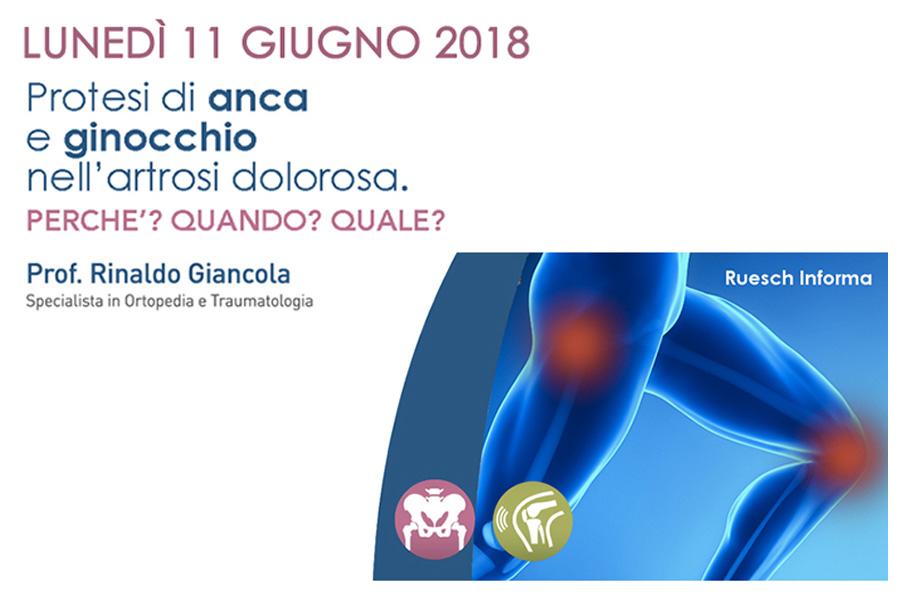 Giornata dedicata al trattamento delle patologie degenerative e traumatiche di anca e ginocchio