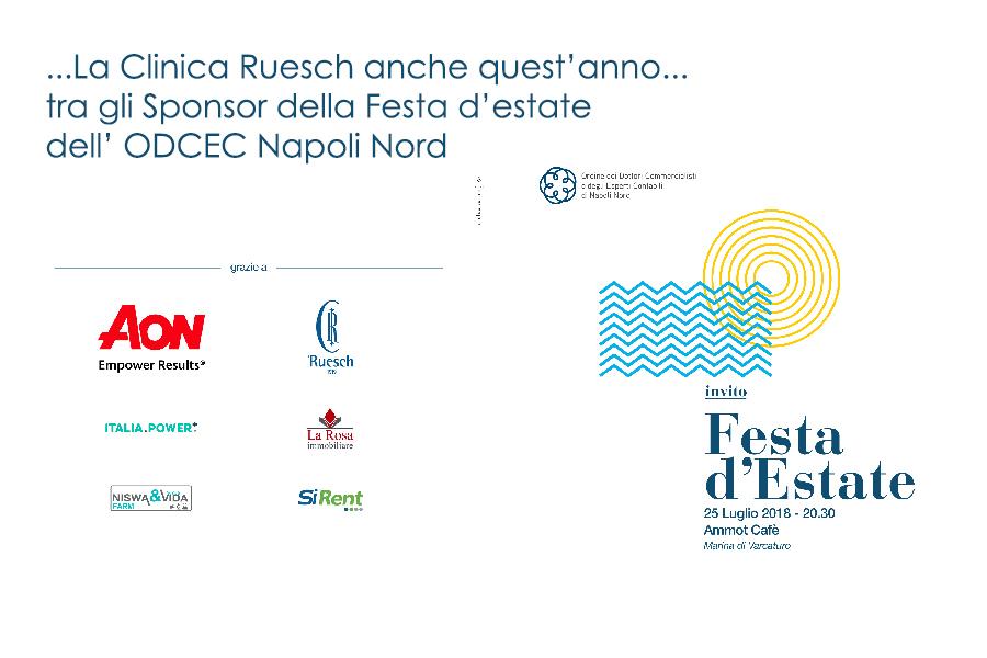 La Clinica Ruesch sponsor della Festa dell'Estate ODCEC