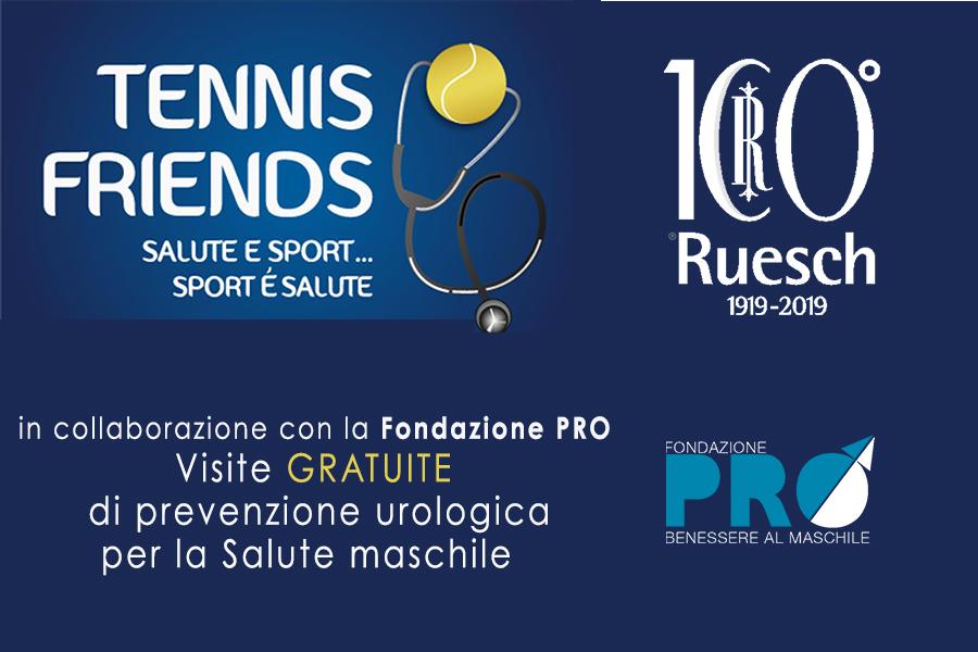 Prevenzione Maschile al Tennis and Friends 2019